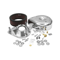S&S Cycle SS17-0403 Teardrop Air Cleaner Kit Chrome for E/G Series Carburettor Big Twin 99-UpTwin Cam