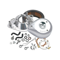 S&S Cycle SS17-0448 Teardrop Air Cleaner Kit Chrome for 1991- 06 HD Carbureted Sportster
