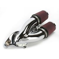 "S&S Cycle SS170-0084 Tuned Induction Kit Chrome Big Twin'84up w/S&S E & G Carburettor & 4-1/8"" Bore"