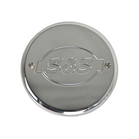 S&S Cycle SS170-0242 Billet Logo Cover for Air Cleaner Chrome Indian'14up
