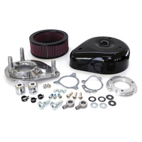 S&S Cycle SS170-0312B Teardrop Air Cleaner Kit Black TBW'08up (inc Softail'16up)