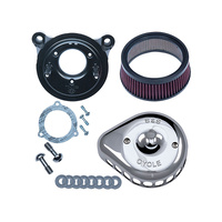 S&S Cycle SS170-0437 Mini Teardrop Air Cleaner Kit Chrome for TBW 08-16 & all BT 06-17 w/SE 58mm T/Body