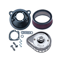 S&S Cycle SS170-0439A Mini Teardrop Air Filter Cover Chrome for XL'07up (EFI)