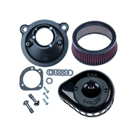 S&S Cycle SS170-0440A Mini Teardrop Air Filter Cover Black for XL 07-Up(EFI)