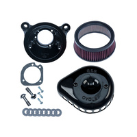S&S Cycle SS170-0442 Mini Teardrop Air Cleaner Kit Black for T/Cam 99-17 (Exc. FLH 08-Upw/TBW)