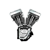 """S&S Cycle SS310-0253 T124 Assembled T-Series """"B"""" Engine Black Twin Cam'07up"""