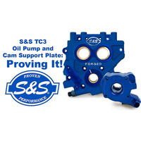S&S Cycle SS310-0731 TC3 Oil Pump and Cam Support Plate Kit Big Twin 99-06 (Exc. FXD 06) Gear Drive