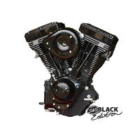 S&S Cycle SS310-0828 V111 V Series Black Edition Complete Engine with 585 Camshaft Black/Black w/Super E Stock Ignition Black Covers