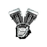 S&S Cycle SS310-0882 T124 Assembled Engine w/Wrinkle Black w/Chrome Engine Covers Twin Cam FXD'06up
