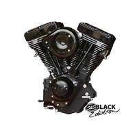 "S&S Cycle SS310-0925 Black & Black Evo 124"" Engine w/SuperG & Super Stock Ignition Black Covers"