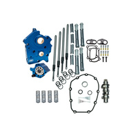 S&S Cycle SS310-1004A Cam Chest Kit w/475C Chain Drive Camshafts & Chrome Pushrod Covers for Touring 17up/Softail 18-Up