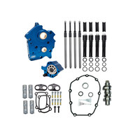 S&S Cycle SS310-1011A Cam Chest Kit w/465C Chain Drive Camshafts & Black Pushrod Covers for Touring 17-Up/Softail 18-Up w/Oil Cooled Engines