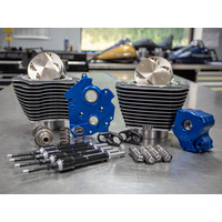 S&S Cycle SS310-1054 Power Package 107ci>124ci for M8'17up Water Cooled w/Black Highlighted Fins & Black Pushrod Tubes