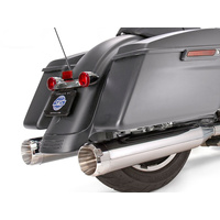 """S&S Cycle SS550-0665 Mk45 4.5"""" Slip-On Mufflers Chrome w/Chrome Thruster End Caps for Touring 17-Up"""