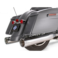 """S&S Cycle SS550-0669 Mk45 4.5"""" Slip-On Mufflers Chrome w/Chrome Tracer End Caps for Touring 17-Up"""