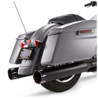 """S&S Cycle SS550-0670 Mk45 4.5"""" Slip-On Mufflers Black w/Black Tracer End Caps for Touring 17up"""
