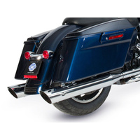 "S&S Cycle SS550-0691 4"" Grand National Slash Cut Slip-On Mufflers Chrome for FLH'95-16/Trike'17up"