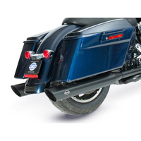 """S&S Cycle SS550-0692 Grand National 4"""" Slash Cut Slip-On Mufflers Black for Touring 95-16/Trike 17-Up"""