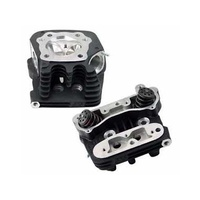 S&S Cycle SS90-1810 Super Stock Cylinder Head Kit Black for Sportster 86-03