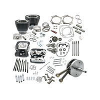 S&S Cycle SS900-0565 124ci Hot Set Up Kit w/91cc S&S Cylinder Heads Black for Twin Cam 88B Softail 00-06