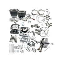 "S&S Cycle SS900-0569 124"" Hot Set Up Kit Wrinkle Black w/S&S Cylinder Heads for all Balanced Big Twins 07up"