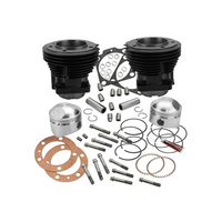 """S&S Cycle SS91-9023 80ci Cylinder Kit w/3-1/2"""" Bore Black for Big Twin 78-84"""
