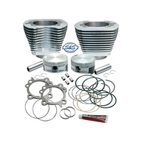 S&S Cycle SS910-0199 88ci to 106ci Stroker Cylinder Kit Silver for Twin Cam 99-06