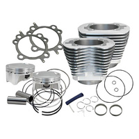 "S&S Cycle SS910-0480 107"" Big Bore Kit Silver w/Pistons Head Gaskets for Big Twin'07up Models"