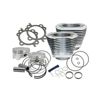 "S&S Cycle SS910-0642 4"" Sidewinder Big Bore Kit Silver for Big Twin'99-06 Models"