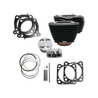 S&S Cycle SS910-0681 Big Bore Kit Black w/Non-Highlighted Fins for M8'17up 107->124ci