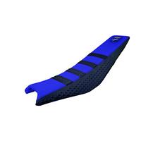 Stompgrip Gripper Seat Cover DB17SPR Blue/Black for Yamaha YZ250F/FX/YZ450F/FX/WR250F/WR450F