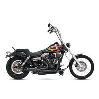 Two Brothers Racing TBR-005-5130199-BLK Shorty Turnout 2-1 Exhaust Black w/Black End Cap for FXD'06-17