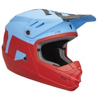 Thor 2018 Sector Youth Helmet Level Powder Blue/Red