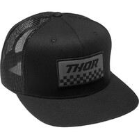 Thor 2022 Checkers Snapback Hat Black/Charcoal