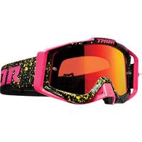 Thor 2019 Sniper Pro Goggle Splatta Fluro Pink/Black