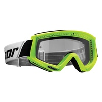 Thor 2021 Combat Youth Goggle Fluro Green