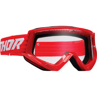 Thor 2022 Combat Racer Goggles Red/White