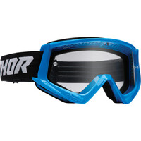 Thor 2022 Combat Racer Youth Goggles Blue/Black