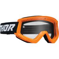 Thor 2022 Combat Racer Youth Goggles Orange/Black
