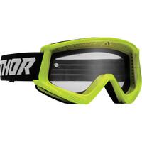 Thor 2022 Combat Racer Youth Goggles Fluro Acid/Black