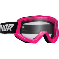 Thor 2022 Combat Racer Youth Goggles Fluro Pink/Black