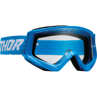 Thor 2022 Combat Racer Youth Goggles Blue/White