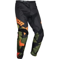 Thor 2021 Sector Warship Youth Pant Green/Orange