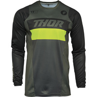 Thor 2021 Pulse Racer Jersey Army Green/Acid