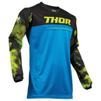 Thor 2019 Pulse Air Acid Youth Jersey Blue/Black