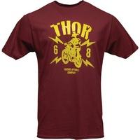 Thor 2020 Lightning Tee Shirt Burgundy