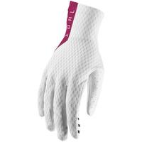 Thor 2019 Agile Gloves White/Maroon