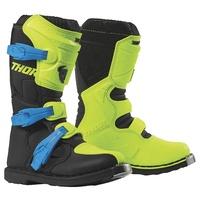 Thor 2021 Blitz XP Youth Boots Fluro Yellow/Black