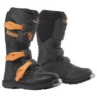 Thor 2021 Blitz XP Youth Boots Charcoal/Orange