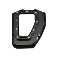 Trask Performance TP-TM-017BK Assault Clear Cam Cover Gloss Black for Twin Cam 01-17